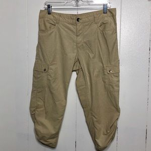 Woolrich Beige Cargo Crop Hiking Pants